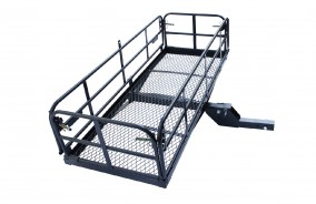Folding hitch mounted cargo carrier RS03