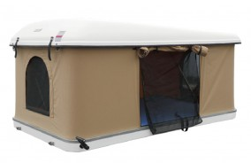 Hard White Shell Aerodynamic Camping Rooftop Tent RX81