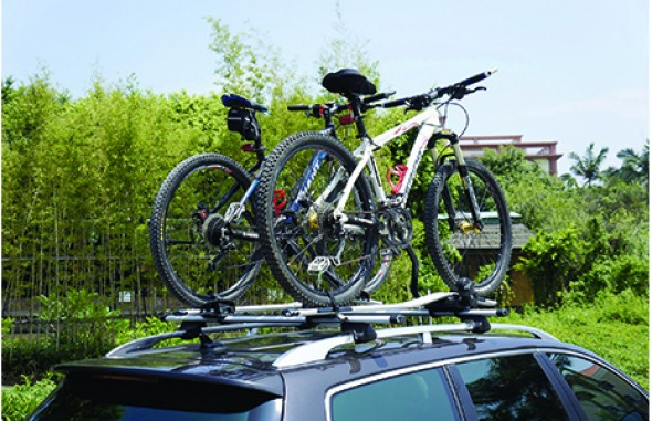 Aluminium roof bicycle rack DS02